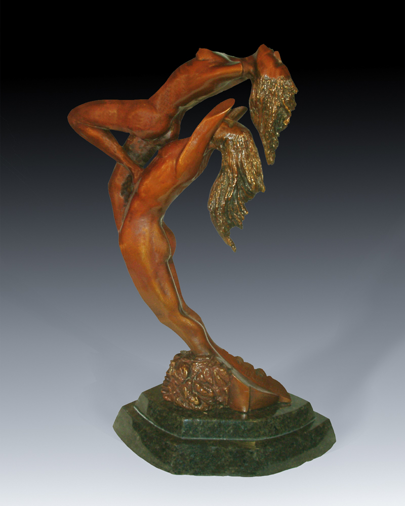 bronze sculpture by Mitchell Webster