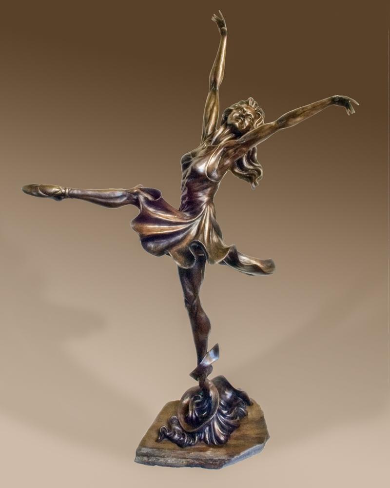 joyful ballet dancer