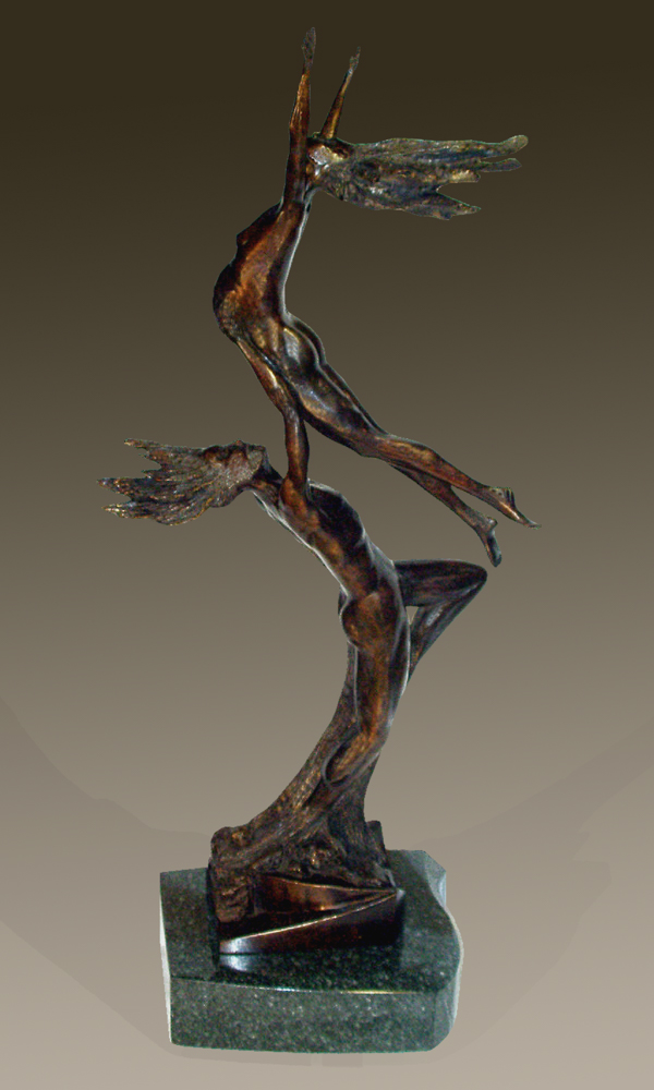 Original bronze sculpture Spring's Promise by Mitchell Webster