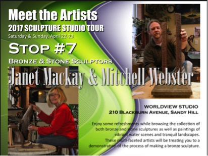 National Capital Network of Sculptors 2017 Sculpture Studio Tour, April 22 -23