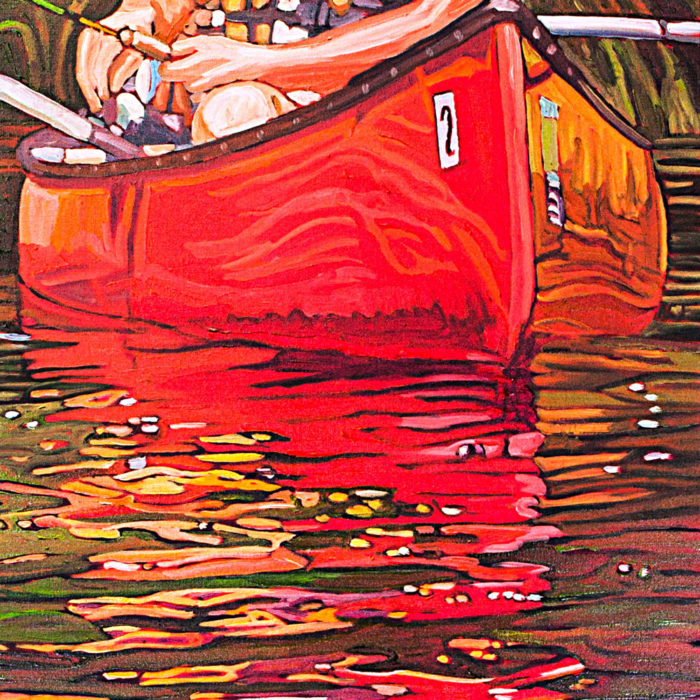 Number Two Red Canoe