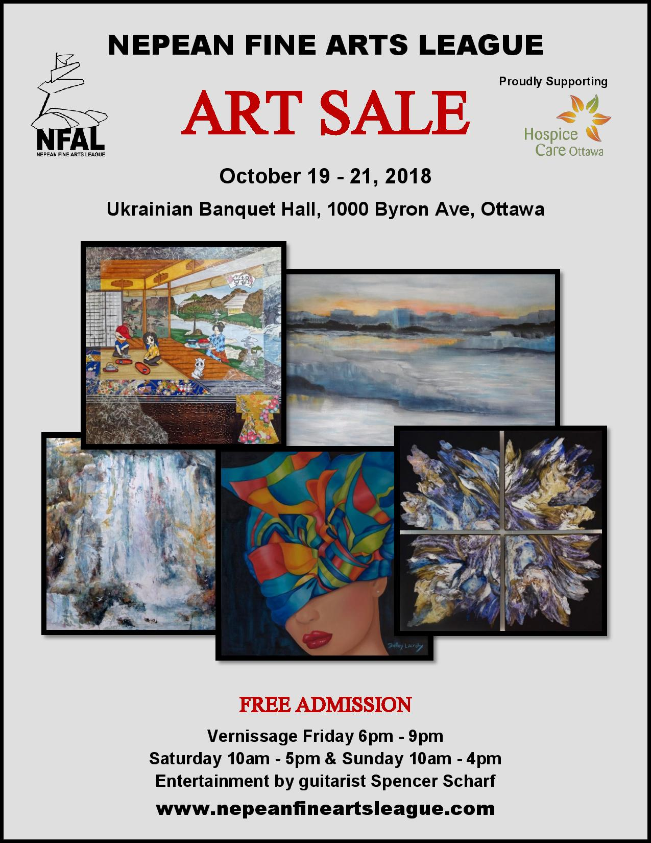 Nepean Fine Arts League, October 19 – 21, 2018