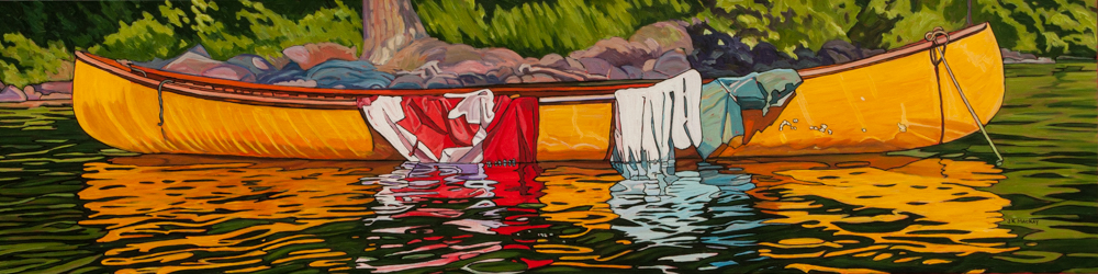 """Oil on canvas painting 15"""" x 60"""""""