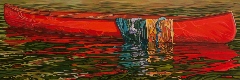 "Oil on canvas painting 24"" x 72"""