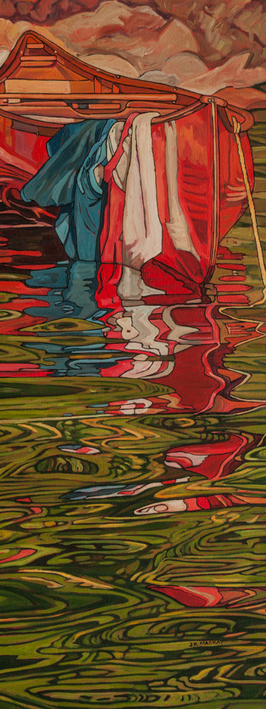 "Oil on canvas painting 15"" x 60"""