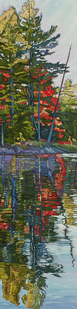 "Oil on canvas painting15"" x 60"""
