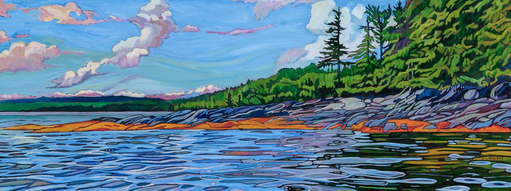 """Oil on canvas painting 18"""" x 48"""""""