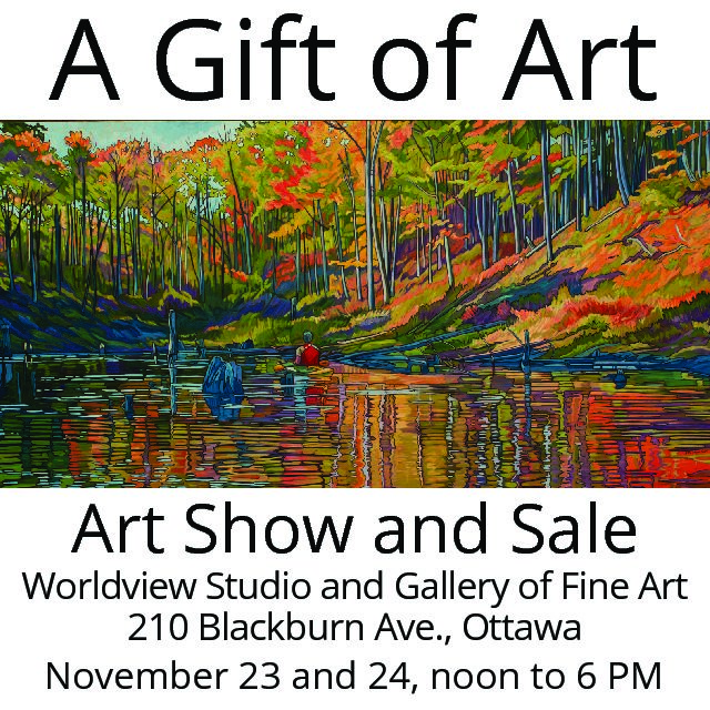 A Gift of Art, Saturday, November 23 – Sunday November 24, from 12:00pm to 6:00pm